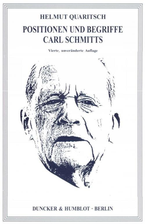 Positionen und Begriffe Carl Schmitts. cover