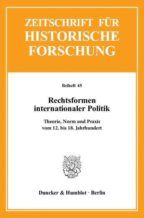 Rechtsformen internationaler Politik. cover