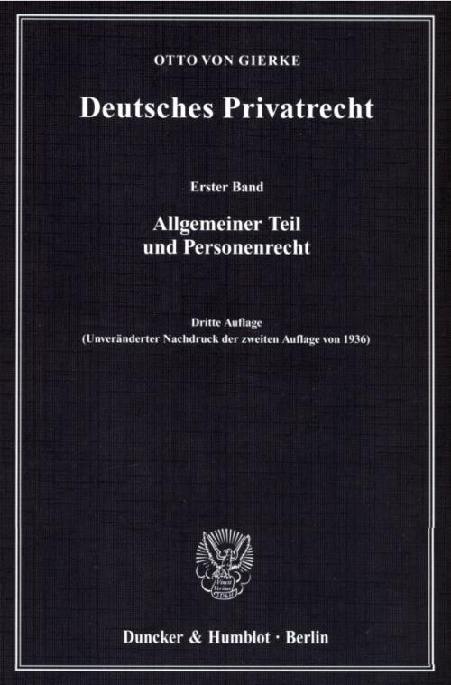 Deutsches Privatrecht. cover