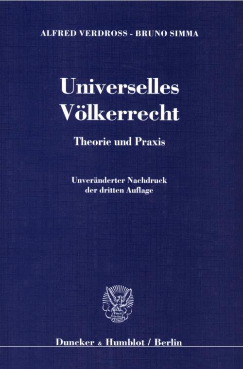 Universelles Völkerrecht. cover