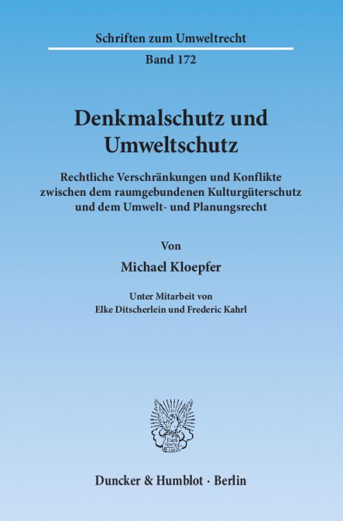 Denkmalschutz und Umweltschutz. cover