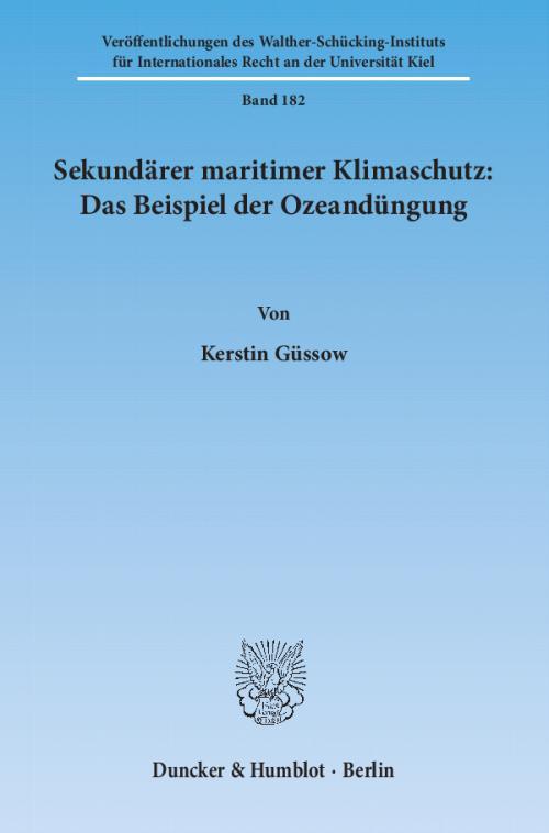 Sekundärer maritimer Klimaschutz: Das Beispiel der Ozeandüngung. cover