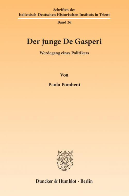 Der junge De Gasperi. cover