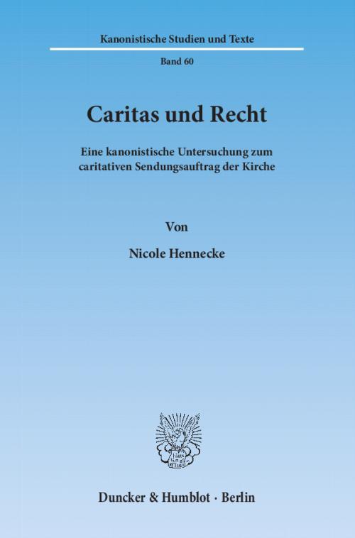 Caritas und Recht. cover