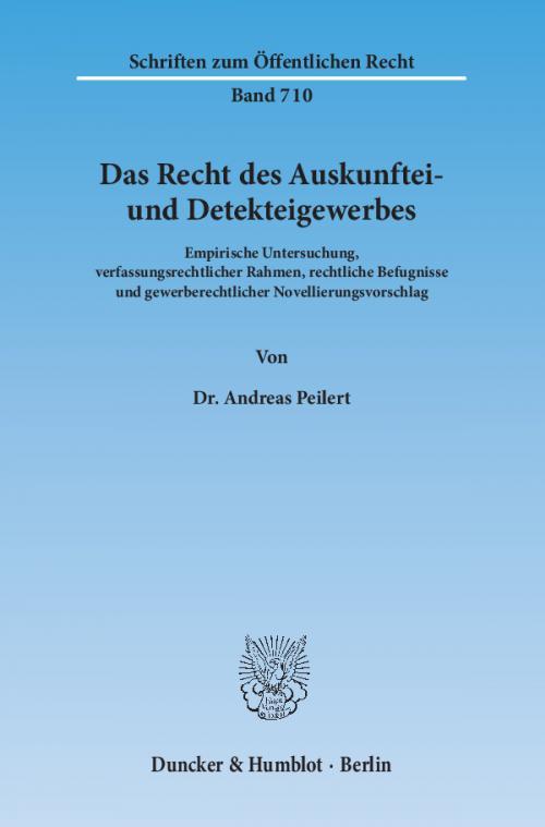 Das Recht des Auskunftei- und Detekteigewerbes. cover
