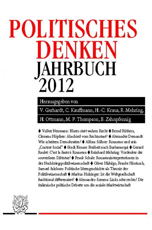 Politisches Denken. Jahrbuch 2012. cover