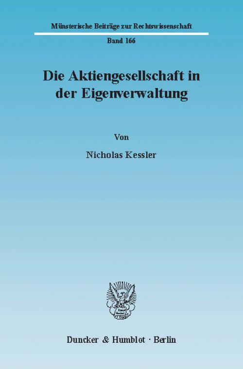 Die Aktiengesellschaft in der Eigenverwaltung. cover