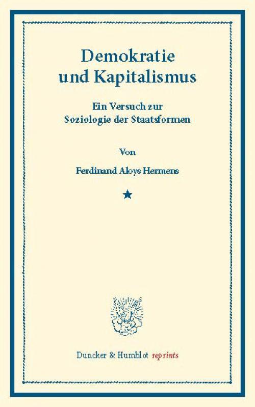 Demokratie und Kapitalismus. cover