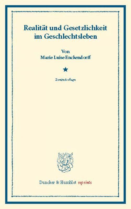Realität und Gesetzlichkeit im Geschlechtsleben. cover
