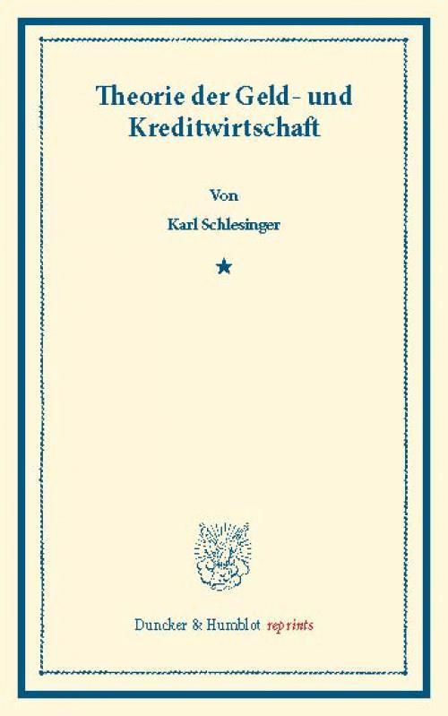 Theorie der Geld- und Kreditwirtschaft. cover