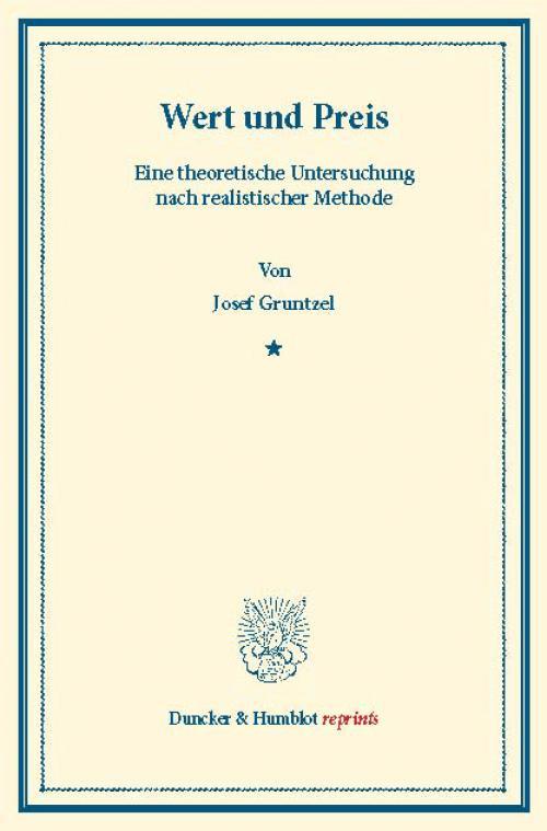 Wert und Preis. cover