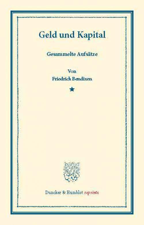 Geld und Kapital. cover