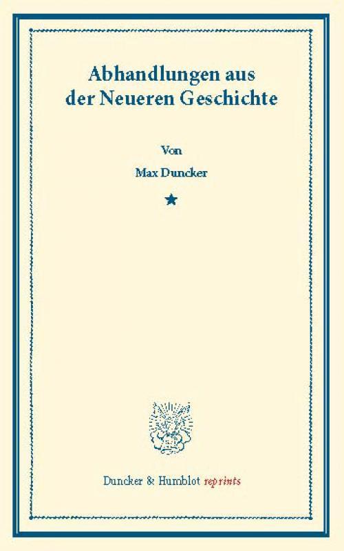 Abhandlungen aus der Neueren Geschichte. cover