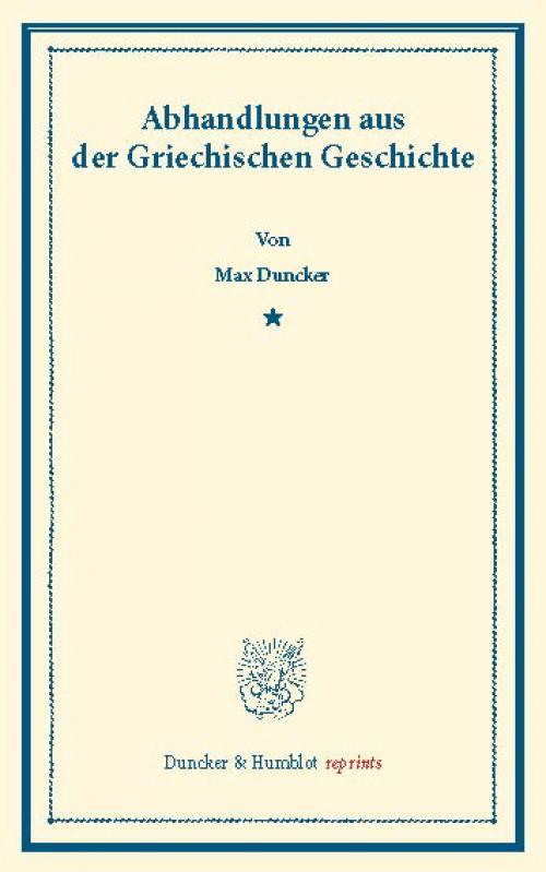 Abhandlungen aus der Griechischen Geschichte. cover