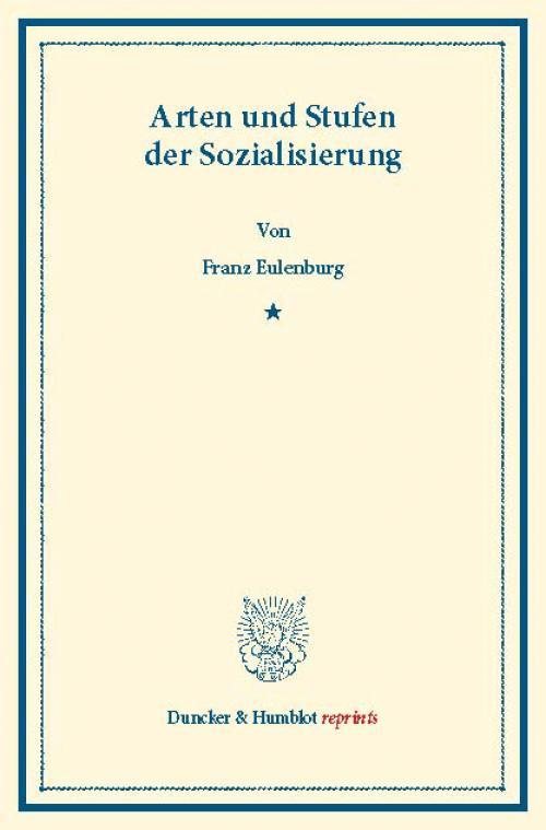 Arten und Stufen der Sozialisierung. cover