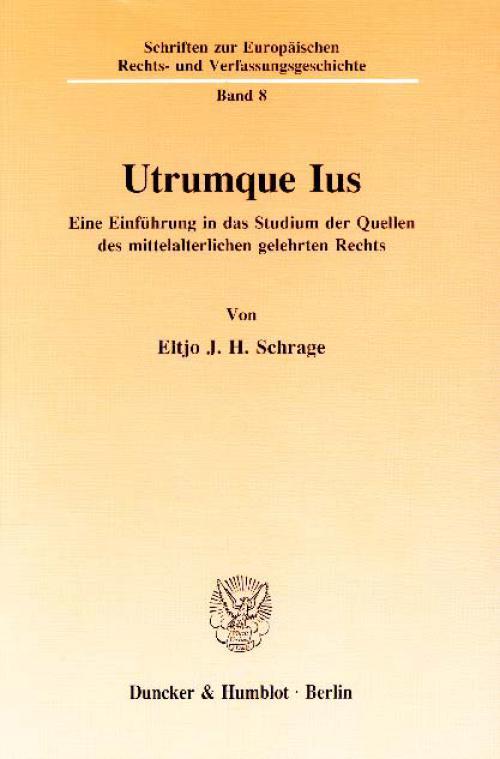 Utrumque Ius. cover