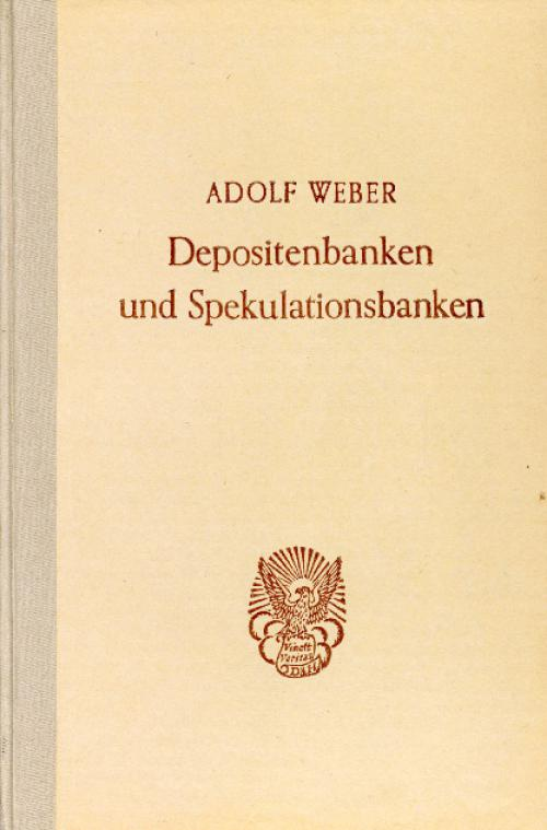 Depositenbanken und Spekulationsbanken. cover