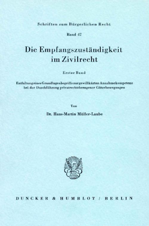 Die Empfangszuständigkeit im Zivilrecht. cover