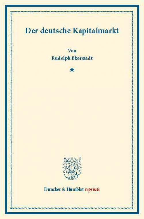 Der deutsche Kapitalmarkt. cover