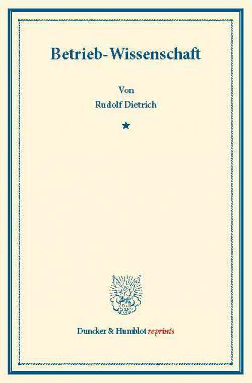 Betrieb-Wissenschaft. cover