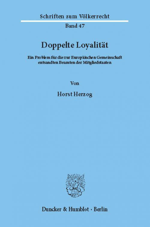 Doppelte Loyalität. cover
