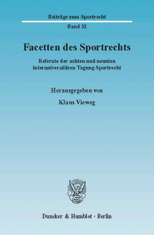 Facetten des Sportrechts. cover