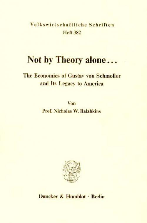 Not by Theory alone ... cover