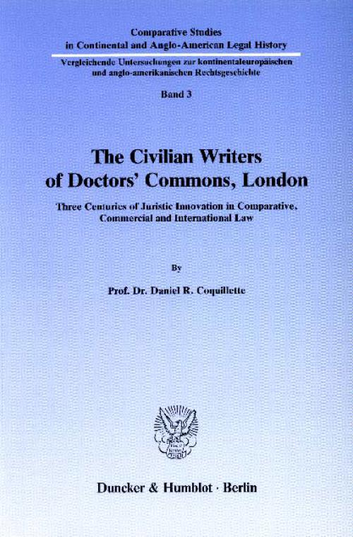 The Civilian Writers of Doctors' Commons, London. cover