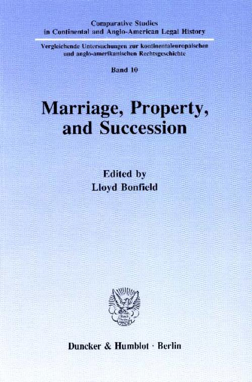 Marriage, Property and Succession. cover