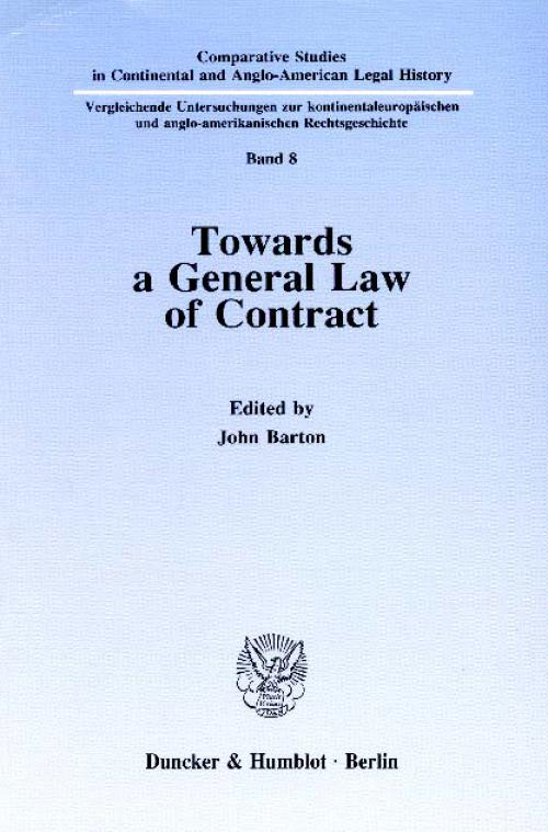 Towards a General Law of Contract. cover