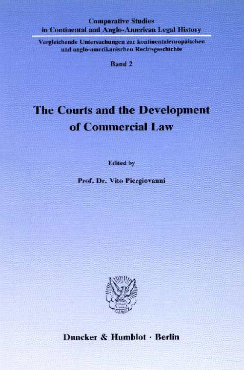 The Courts and the Development of Commercial Law. cover