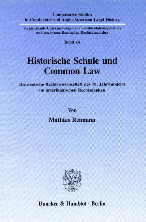 Historische Schule und Common Law. cover