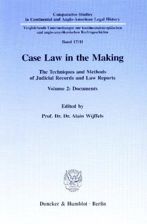 Case Law in the Making. cover