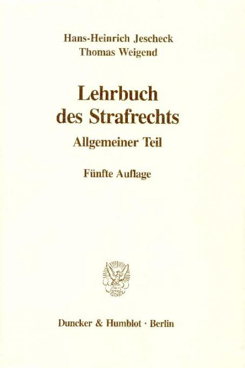 Lehrbuch des Strafrechts. cover