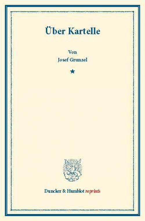 Über Kartelle. cover