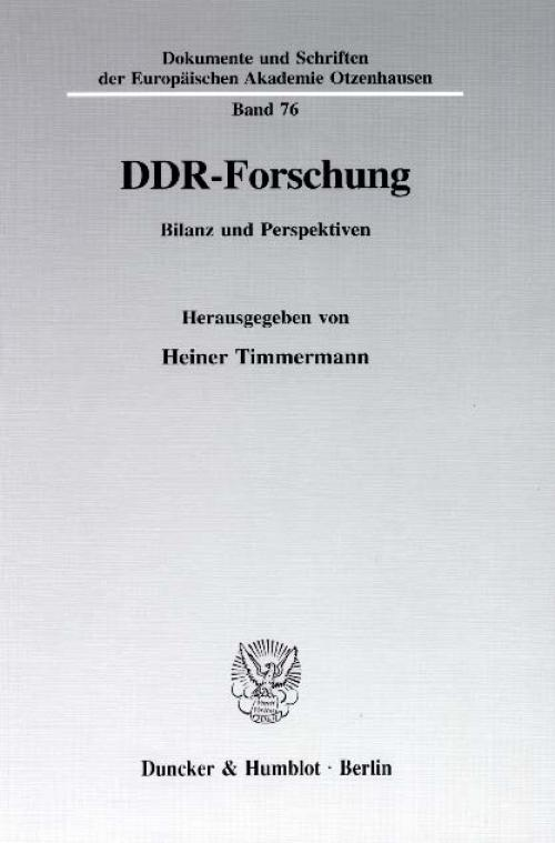 DDR-Forschung. cover