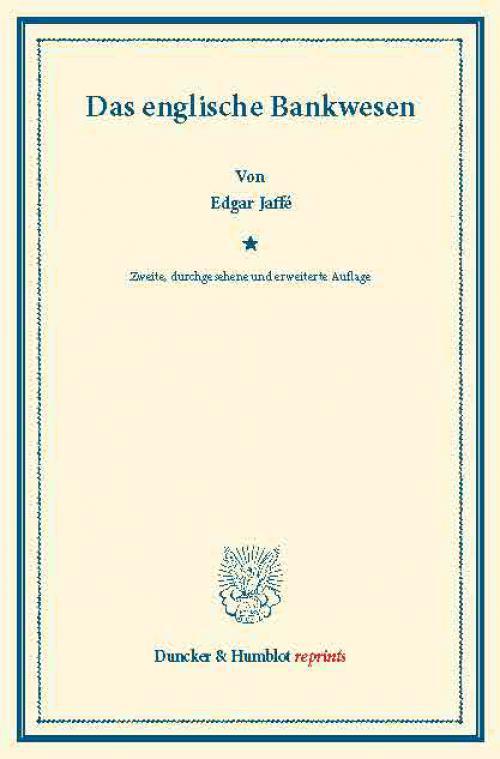 Das englische Bankwesen. cover