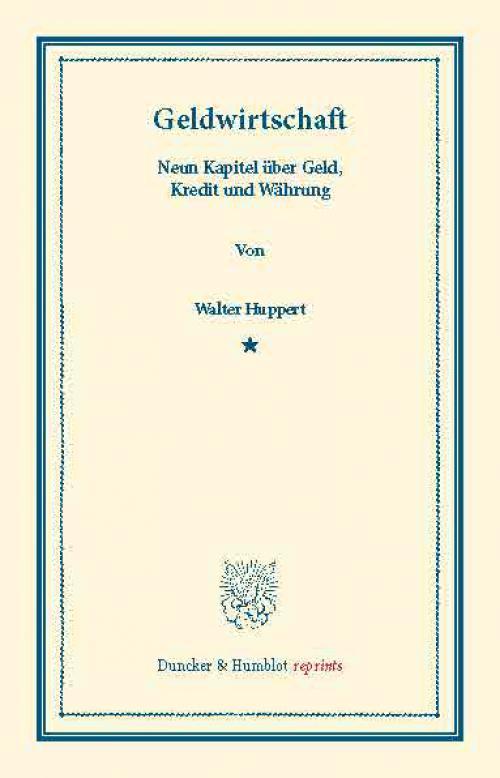 Geldwirtschaft. cover