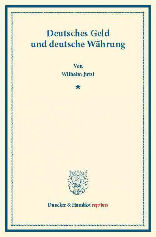 Deutsches Geld und deutsche Währung. cover
