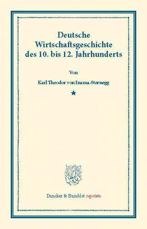 Deutsche Wirtschaftsgeschichte. cover