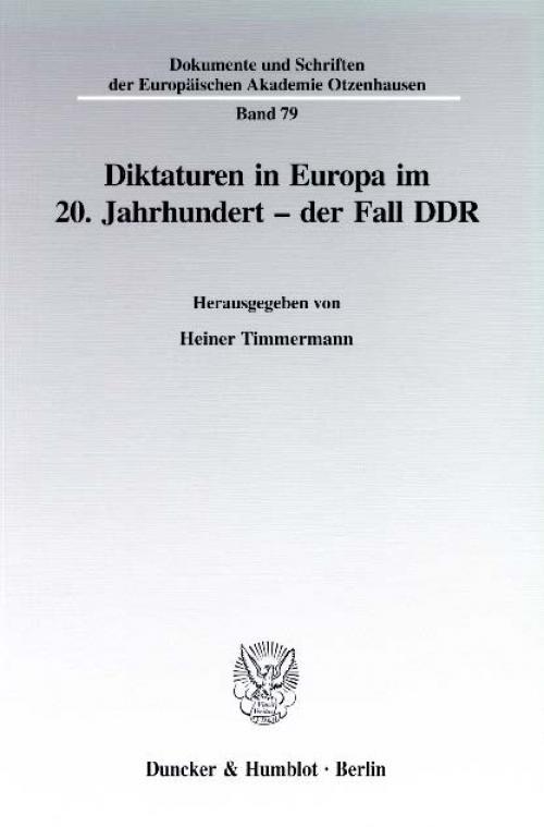 Diktaturen in Europa im 20. Jahrhundert - der Fall DDR. cover