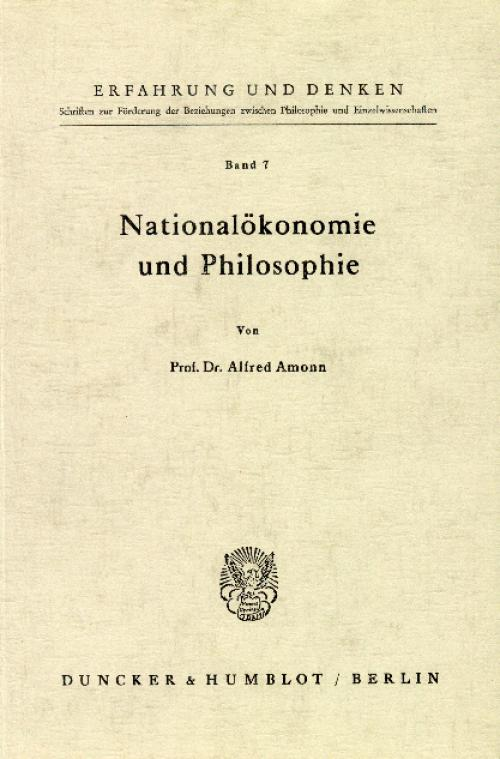 Nationalökonomie und Philosophie. cover