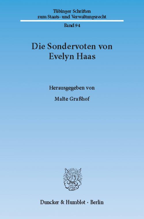 Die Sondervoten von Evelyn Haas. cover