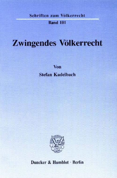 Zwingendes Völkerrecht. cover