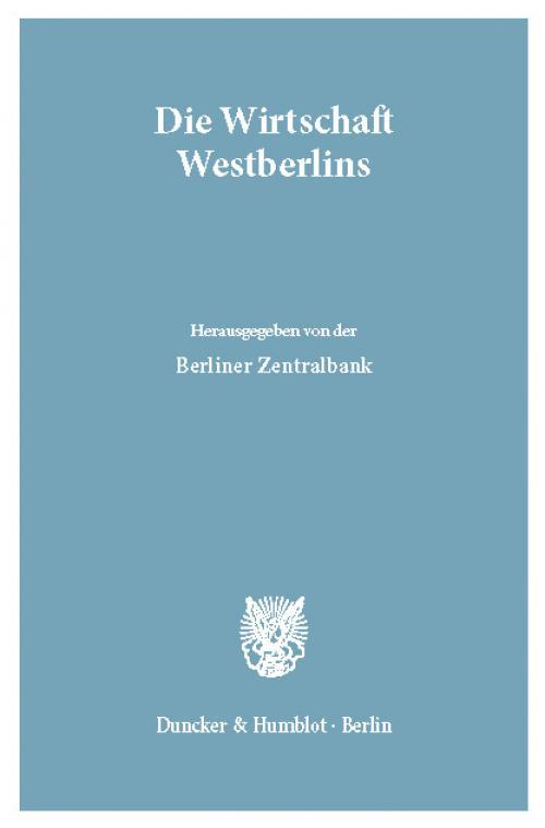 Die Wirtschaft Westberlins. cover