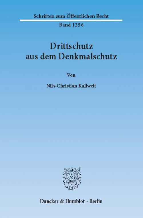Drittschutz aus dem Denkmalschutz. cover