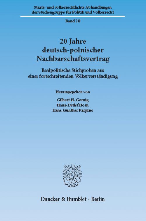 20 Jahre Deutsch-Polnischer Nachbarschaftsvertrag. cover