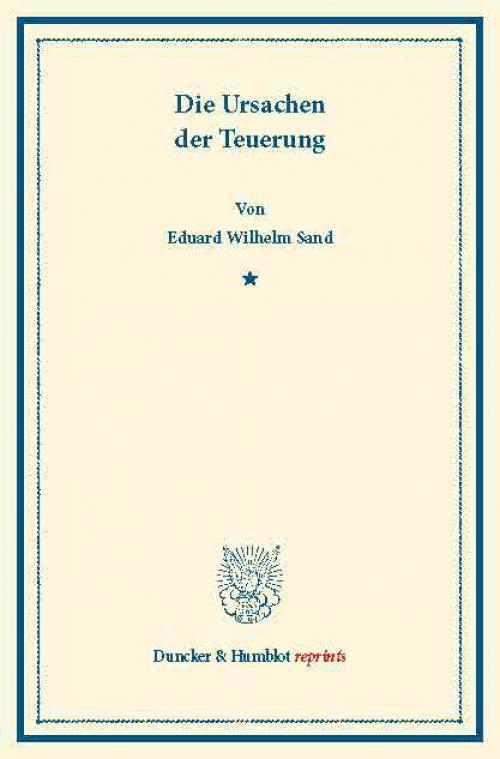 Die Ursachen der Teuerung. cover