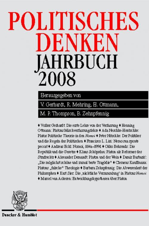 Politisches Denken. Jahrbuch 2008. cover