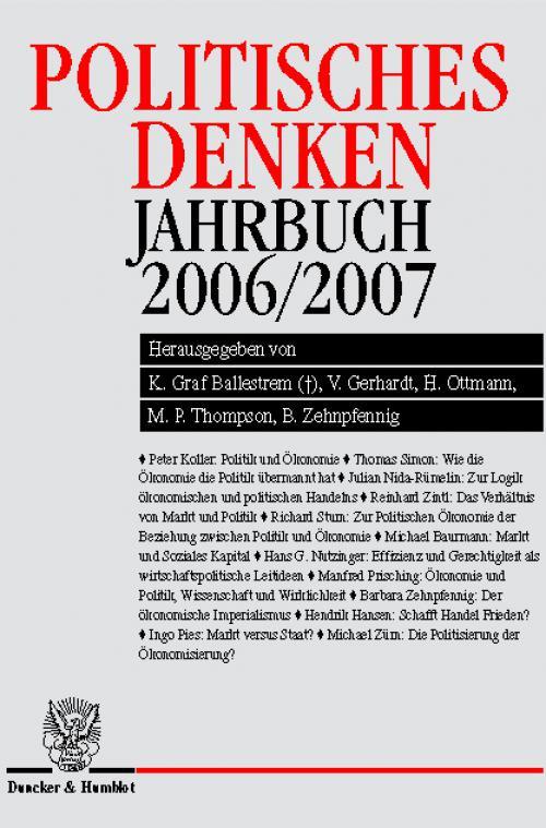 Politisches Denken. Jahrbuch 2006/2007. cover